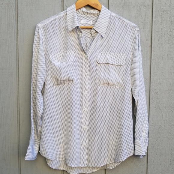 b5e725a3 Equipment Tops | Femme Silk Button Down Shirt | Poshmark